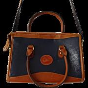 Vintage 1980s Dooney and Bourke Purse Handbag Shoulder Strap Navy Brown Duck