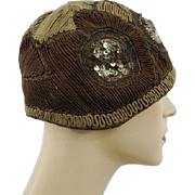 Flapper Cloche Hat Vintage 1920s Art Deco Paris Maid New York Paris