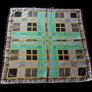 Vintage Scarf Vera Neumann Rayon Silk 1960s Geometric Unisex Accessory