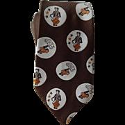 Revolutionary War Necktie Vintage 1970s Wide Drummer Cannon Colonial America Tie