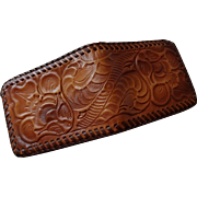 Hand Tooled Leather Wallet Vintage 1970s Bifold Western Never Used Pristine Condition