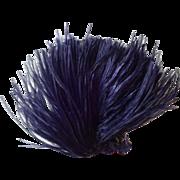 Indigo Violet Antique Victorian Ostrich Feather Plume Millinery Decoration