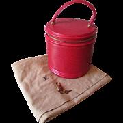 Unused Louis Vuitton Purse Cannes Red Epi Leather Vanity Handbag Dust Bag Lock Keys