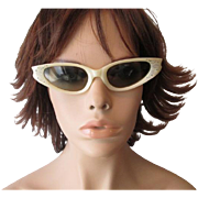 Cool Ray Polaroid Sunglasses Vintage 1950s Cat Eye Glasses 145