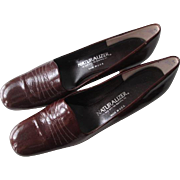 Brown Naturalizer Stadium Shoes Pumps Vintage 1970s Genuine Leather Size 10