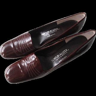 Brown Naturalizer Stadium Shoes Pumps Vintage 1970s Genuine Leather Size 10