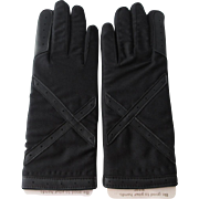 Deadstock Womens Driving Gloves Vintage 1980s Winterlovers by Finale Nylon Stretch Knit Interior