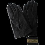 Van Raalte Black Leather Driving Gloves Vintage 1980s Deadstock NWT Unworn