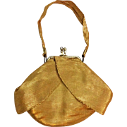 HOLD For Michelle: Art Deco Flapper Purse Vintage 1920s Gold Metallic Evening Bag
