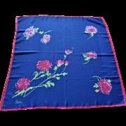 Vintage 1960s Vera Neumann Floral Silk Blend Scarf