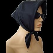 Italian Silk Scarf Vintage 1960s Designer Vera Neumann Black Hand Rolled NWT