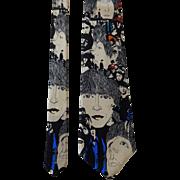 The Beatles Revolver Silk Necktie Tie Vintage 1990s Ralph Marlin NWT