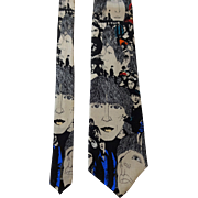 The Beatles Revolver Silk Necktie Tie Vintage 1990s Ralph Marlin NWT