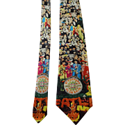 Beatles Silk Necktie Tie Novelty Sergeant Peppers Vintage 1990s Lonely Hearts Club Band Ralph Marlin