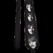 Ralph Marlin Necktie The Beatles White Album Faces Vintage 1990s Dead Stock NWT Tie