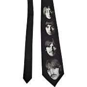 Ralph Marlin Necktie The Beatles White Album Faces Vintage 1990s Dead Stock NWT Tie