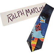 Beatles Necktie Tie Vintage 1990s Novelty Ralph Marlin Running Meanie Yellow Submarine NIB