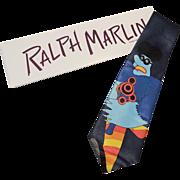 Running Meanie Beatles Necktie Vintage 1990s Novelty Ralph Marlin New In Box Yellow Submarine