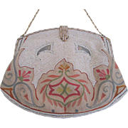 Art Deco Longchamp Purse Vintage 1940s Micro Embroidery Beading Clutch