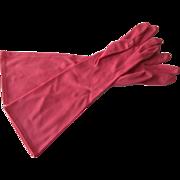 Pink Womens Gloves Vintage 1960s Aris Nylon Italian