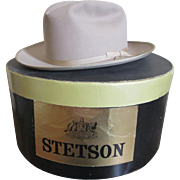 Stetson Stroliner Cowboy Hat In Box Vintage 1970s Mens Beige Accessory Size 7