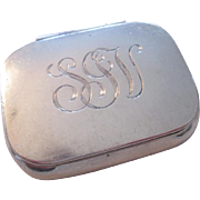 Tiffany Sterling Silver Pillbox Pill Box Vintage 1920s Signed SS