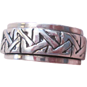 Spinner Worry Ring Sterling Silver Celtic Knots Band
