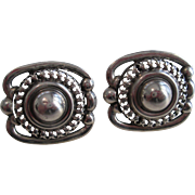 Danecraft Sterling Silver Earrings Screwback Posts Signed