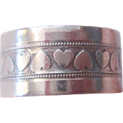 Sterling Silver SS Hearts Band Ring