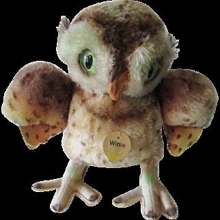 Steiff Wittie Owl 4322 Vintage 1955 Glow In The Dark Eyes Full ID