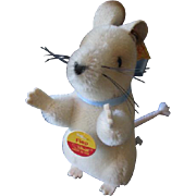 Steiff Fiep Mouse Vintage 1990s Full ID German Mohair Plush Toy