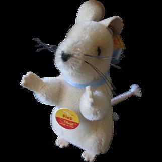 Steiff Fiep Mouse Vintage 1990s Full ID German Mohair Plush Toy