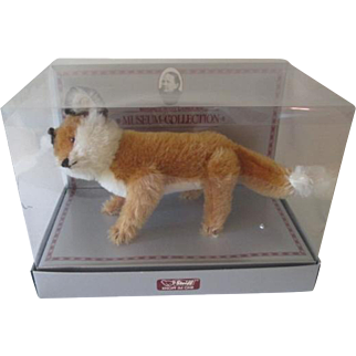 Steiff Museum Collection Fox Vintage 1980s New In Box Ltd Ed Plush Toy