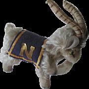 Rare Steiff Navy Goat Mascot Vintage 1957 Chest Tag