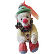 Clown Miniature Artist Teddy Bear Vintage 1980s Soft Sculpture