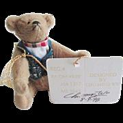 Chu Ming Wu Artist Miniature Teddy Bear NWT