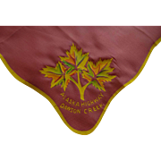 Dawson Creek Alaska Souvenir Hanky Hankie