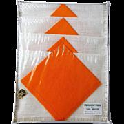 Deadstock Vintage 1950s Placemats Orange Napkins Set