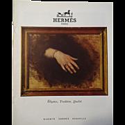 Hermes Paris Jewelry Original French Art Advertisement Vintage 1950s Paper Ephemera