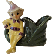 Shawnee Pixie Elf Planter Vintage 1950s Kitsch Shoe Christmas Holiday