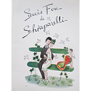 French Schiaparelli Oringal Art Vintage 1950s Jewelry Advertisement Paper
