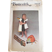Butterick Toys Sewing Pattern Vintage 1960s Penguin Dog Ladybug Uncut