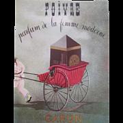 Caron Parfum Perfume Advertisement Vintage 1950s Original French Paper Ephemera
