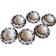 Limoges France Ramekin Saucer Set Of 6 Union Ceramique UNC154
