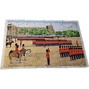Ulster Pure Irish Linen Towel Vintage 1970s Trooping The Colour At Horse Guards Parade London