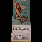 Pinup Girl Calendar Munson Artwork Vintage 1940s Paper Ephemera Arabian Fatima
