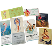HOLD For Anne: Lot Vintage Pinup Blotters and Calendars