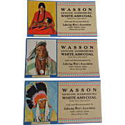Native American Advertising Blotters Vintage 1930s Wasson Coal Great Northern Railway