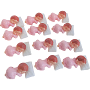 Baby Girl Cake Topper Decorations Vintage 1950s Party Favors Set of 11