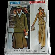 Vogue Sewing Pattern Vintage 1970s Pierre Balmain Paris Uncut Womens Suit Skirt Jacket Pants